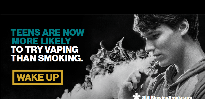 Teens are now more likely to try vaping
