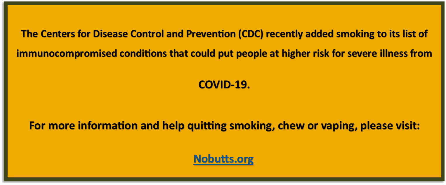 Image COVID-19 and California Smokers' Helpline Link
