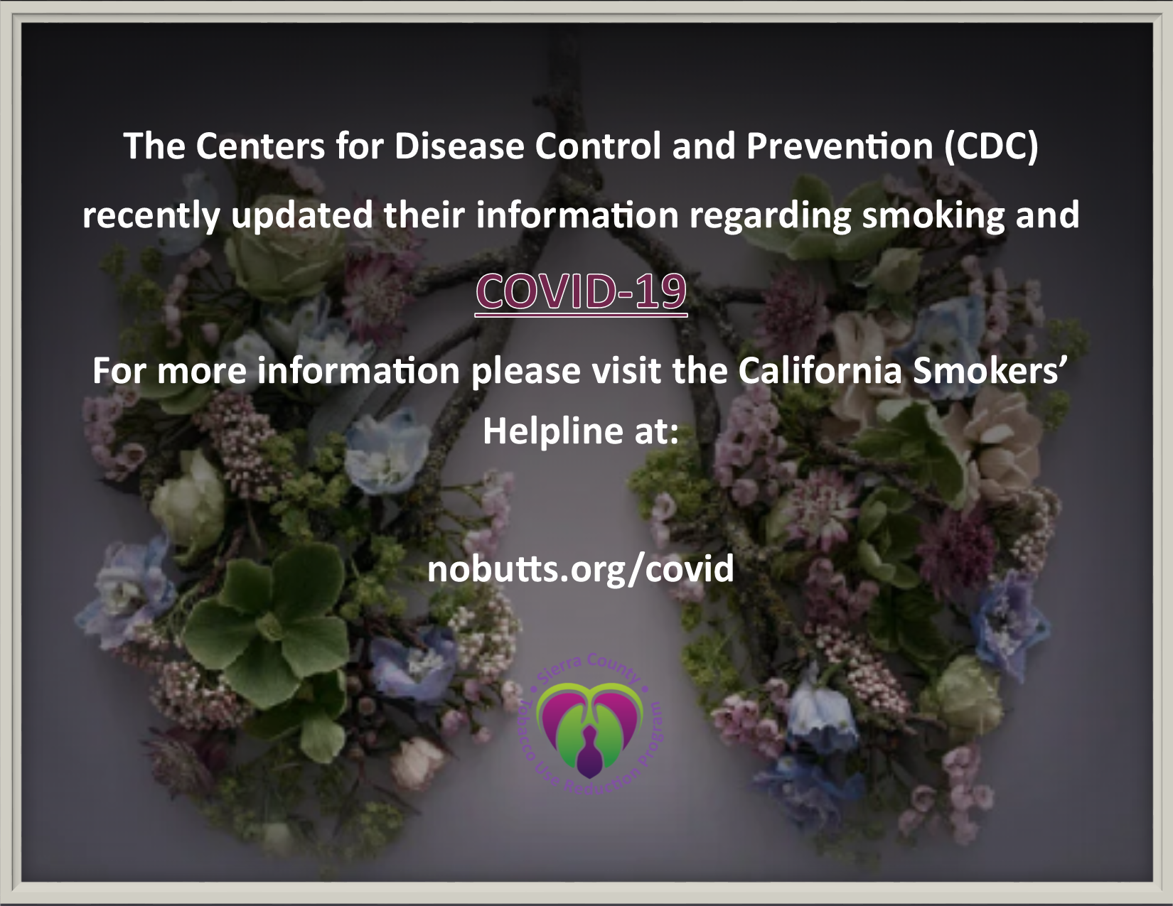Tobacco Use and COVID-19 with link to California Smokers' Helpline