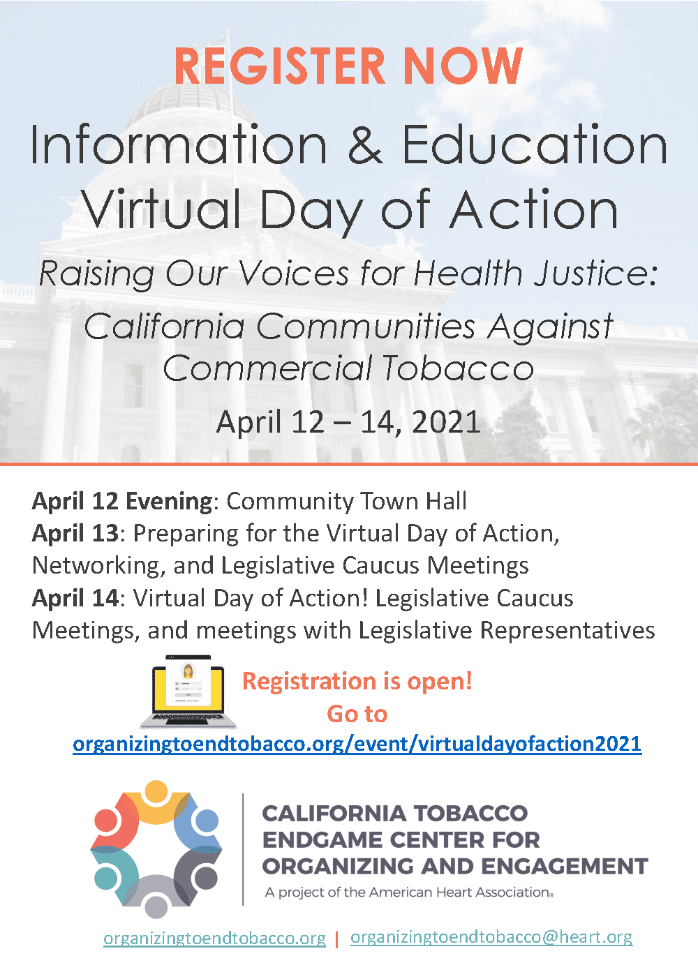 I and E Virtual Day of Action 2021 Register Now